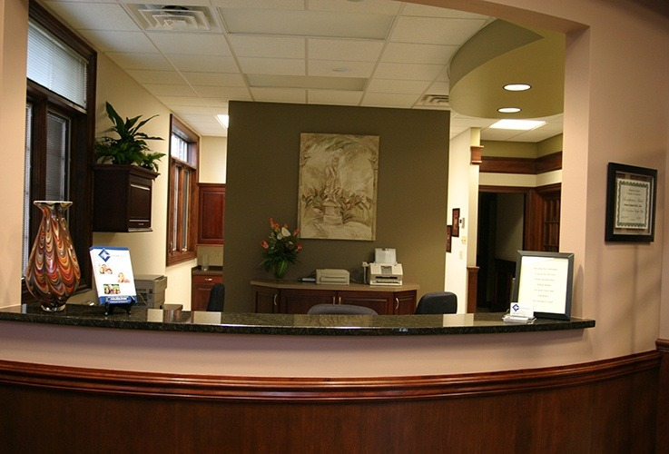 Welcoming reception desk